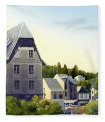 Houses At Murol Fleece Blanket