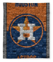 Houston Astros Brick Wall Fleece Blanket
