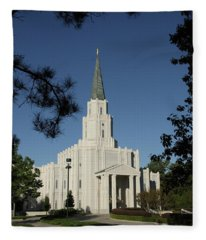 Houston Lds Temple Fleece Blanket