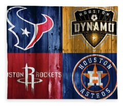 Houston Sports Teams Barn Door Fleece Blanket