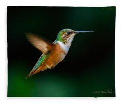 Hovering Allen's Hummingbird Fleece Blanket