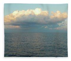 Hovering Over The Atlantic At Sunrise Fleece Blanket
