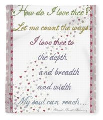 How Do I Love Thee? Fleece Blanket