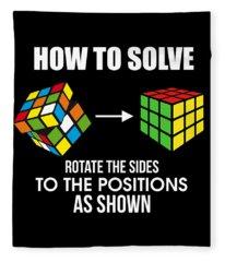 How To Solve Puzzles Fleece Blanket