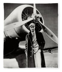 Howard Hughes - American Aviator  Fleece Blanket