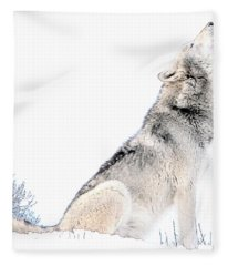 Howling Wolf 1 Fleece Blanket