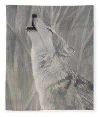 Howling Wolf Fleece Blanket