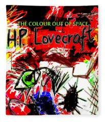 Hp Lovecraft Poster  Fleece Blanket