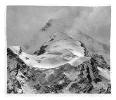 Huayna Potosi Ice And Clouds 3 Fleece Blanket