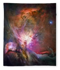 Hubble's Sharpest View Of The Orion Nebula Fleece Blanket