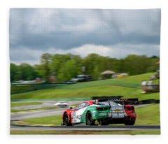Hublot Ferrari On The Track At Virginia International Raceway  Fleece Blanket