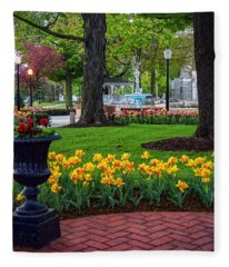 Hudson Falls...a Great Place To Call Home Fleece Blanket