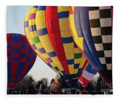 Hudson Hot Air Balloon Festival 2018 Amazing Fleece Blanket