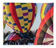 Hudson Hot Air Balloon Festival 2018 Look At The Colors Fleece Blanket