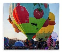 Hudson Hot Air Balloon Festival 2018 The Farm Fleece Blanket
