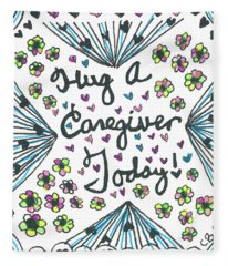 Hug A Caregiver Fleece Blanket