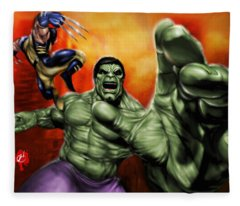 Hulk Fleece Blanket