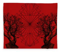 Human Tree Fleece Blanket
