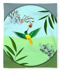 Humming Bird - Wall Art Fleece Blanket