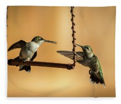 Humming Birds Fleece Blanket