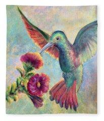 Humming Jewel Fleece Blanket