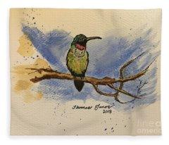 Hummingbird At Rest Fleece Blanket