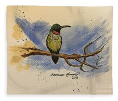 Hummingbird At Rest Fleece Blanket