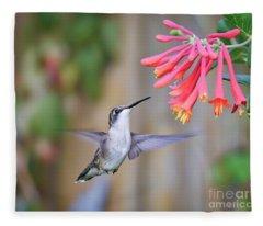 Hummingbird Happiness 2 Fleece Blanket