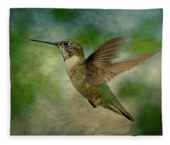 Hummingbird In Flight II Fleece Blanket