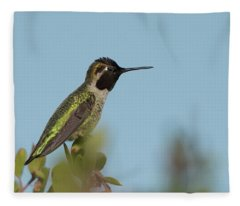 Hummingbird On Watch Fleece Blanket