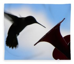 Hummingbird Silhouette Fleece Blanket
