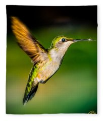 Hummingbird Sparkle Fleece Blanket