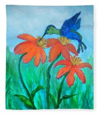 Hummingbird Treat Fleece Blanket