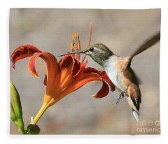 Hummingbird Whisper  Fleece Blanket