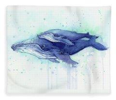 Whale Fleece Blankets