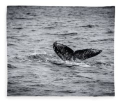 Humpback Whale Tail Fleece Blanket