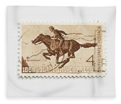 Hundred Years Pony Express Fleece Blanket