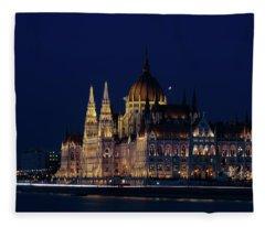 Hungarian Parliament Building #1 Fleece Blanket
