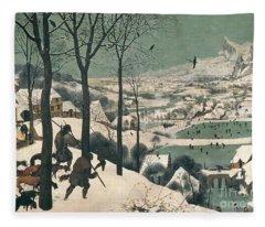 Hunters In The Snow Fleece Blanket