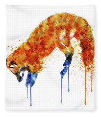 Hunting Fox  Fleece Blanket