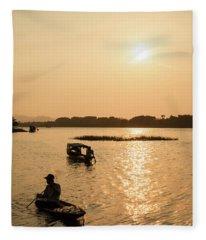 Huong River #3 Fleece Blanket