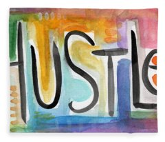 Hustle- Art By Linda Woods Fleece Blanket