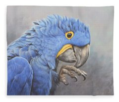 Hyacinth Macaw Fleece Blanket
