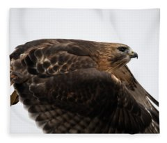 Hybrid Hawk Flyby  Fleece Blanket