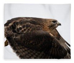 Hybrid Hawk Flyby  Fleece Blanket