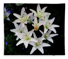 Hybrid Lily Fleece Blanket