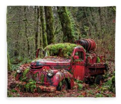 Hybrid Fire Truck Fleece Blanket
