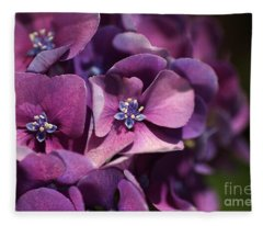 Hydrangea Passion  Fleece Blanket