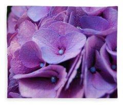 Hydrangeas Fleece Blanket