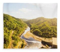 Hydropower Valley River Fleece Blanket